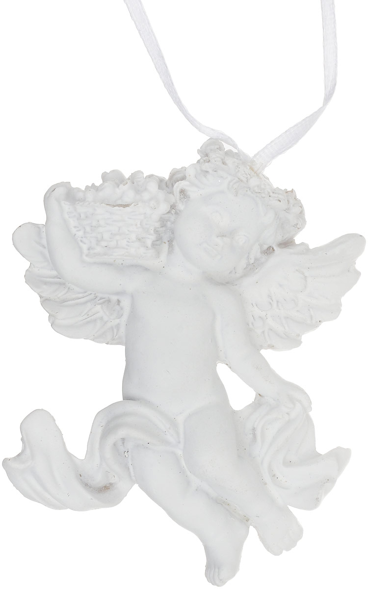 Украшение новогоднее подвесное Magic Time Ангел с корзинкой, 8,5 х 7 х 2,4 см75415Новогоднее подвесное украшение Magic Time Ангел с корзинкой, выполненное из полирезины, оснащено специальной текстильной ленточкой для подвешивания.Такие украшения отлично подойдут для декорации новогодней ели. Создайте в своем доме атмосферу веселья и радости, украшая всей семьей новогоднюю елку нарядными игрушками, которые будут из года в год накапливать теплоту воспоминаний.Размер украшения: 8,5 х 7 х 2,4 см.
