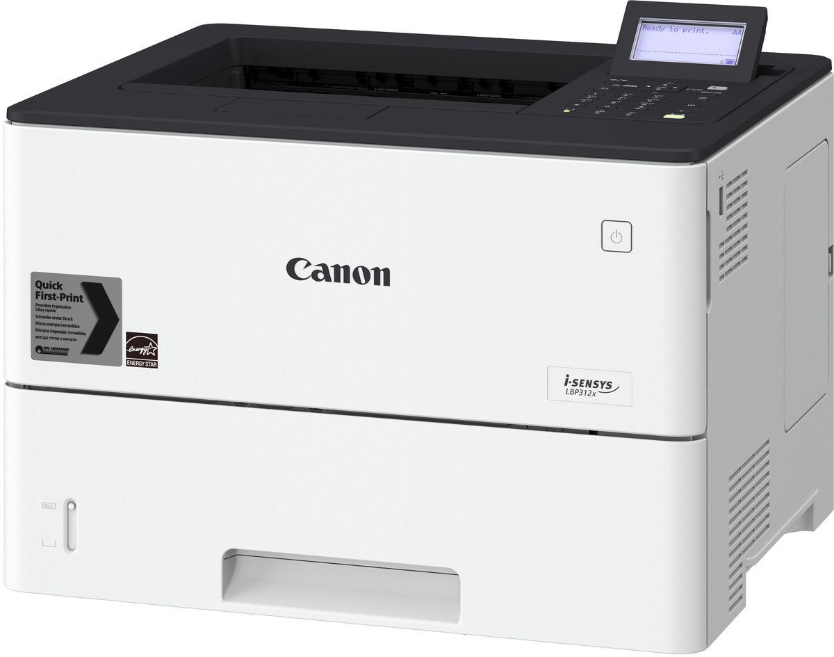 Canon i-SENSYS LBP312X, Black принтер488872Принтер Canon I-SENSYS LBP312X EU SFP А4, 43 страниц, 1200*1200 dpi, LAN, duplex, USB 2.0Струйный или лазерный принтер: какой лучше? Статья OZON Гид