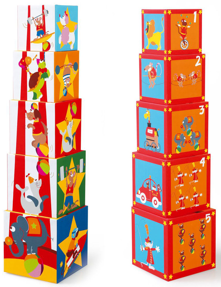 Scratch Кубики Stacking Tower Цирк веселый цирк