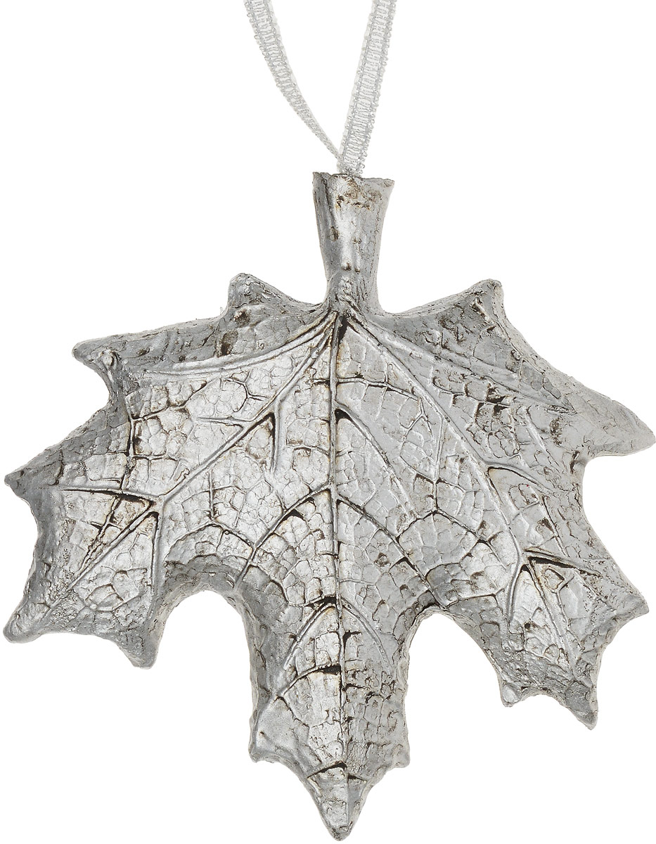 Украшение новогоднее подвесное Magic Time Кленовый лист цвет волос кленовый фото