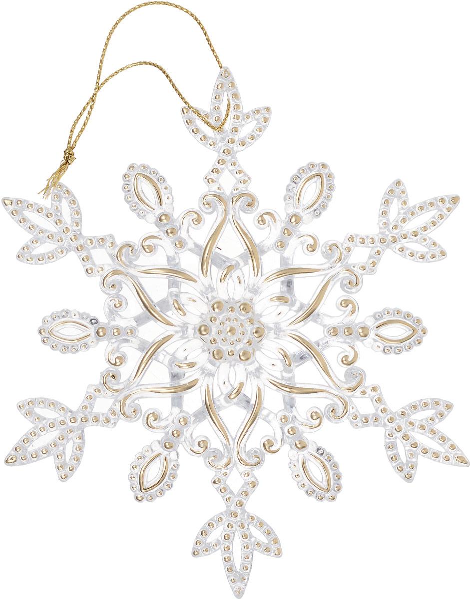 Украшение новогоднее подвесное Magic Time Снежинки38573Новогоднее подвесноеукрашение Magic Time Снежинки отлично подойдет для декорации новогодней ели. Игрушка изготовлена из полистирола и оформлена блестками. Создайте в своем доме атмосферу веселья и радости, украшая всей семьей новогоднюю елку нарядными игрушками, которые будут из года в год накапливать теплоту воспоминаний. Размеры украшения: 12,5 х 0,5 х 12,5 см