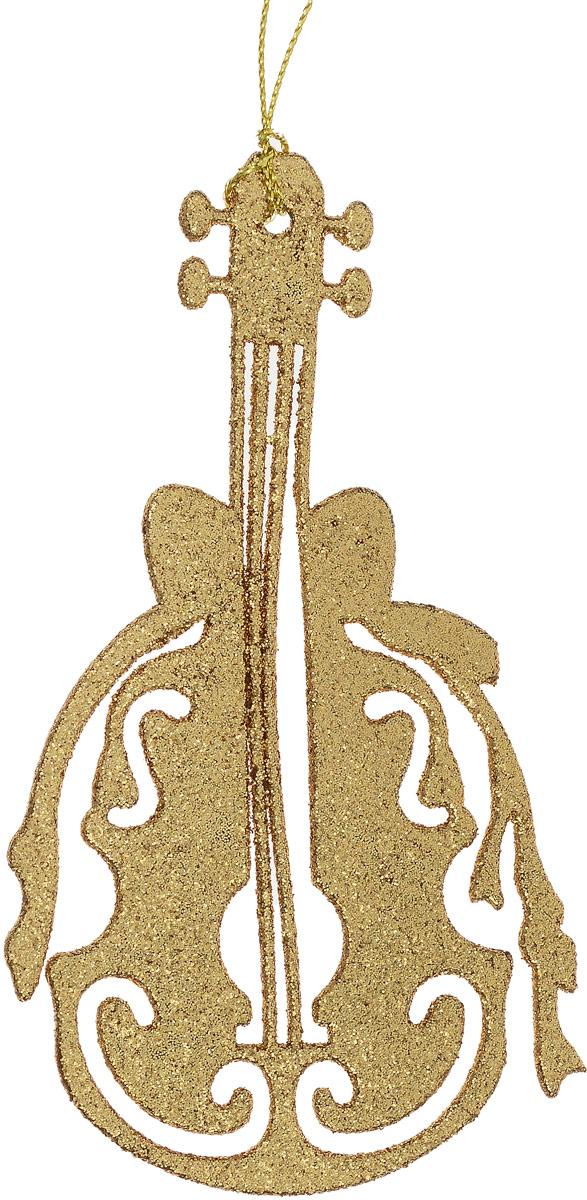 Украшение новогоднее подвесное Magic Time Скрипка, цвет: золотистый, 8,5 х 14,5 см75129Новогоднее украшение Magic Time Скрипка отлично подойдет для декорации вашего дома и новогодней ели. Украшение выполнено из высококачественного пластика и оформлено блестками. Изделие оснащено текстильной петелькой, с помощью которой его можно повесить в любом понравившемся вам месте. Елочная игрушка - символ Нового года. Она несет в себе волшебство и красоту праздника. Создайте в своем доме атмосферу веселья и радости, украшая всей семьей новогоднюю елку нарядными игрушками, которые будут из года в год накапливать теплоту воспоминаний.