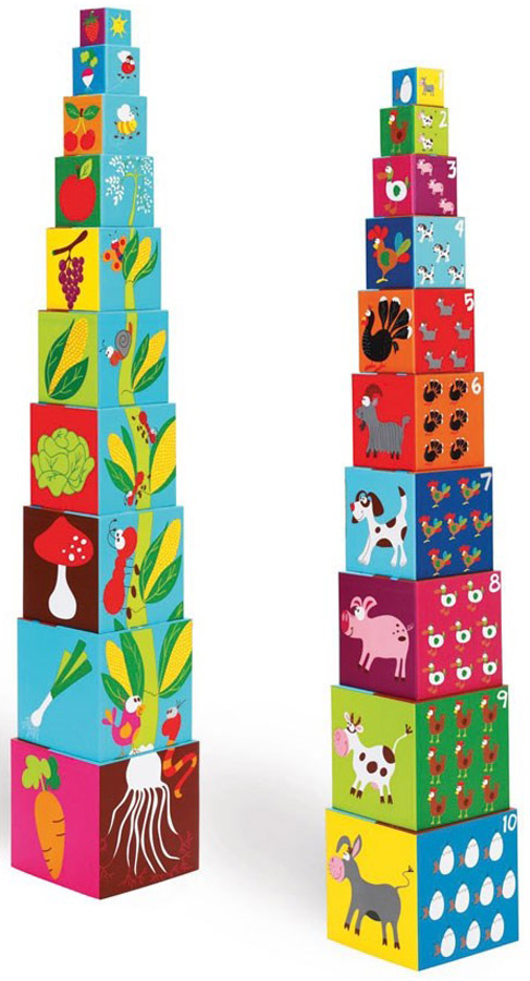 Scratch Кубики Stacking Tower Ферма 6181030 ceramic 4 piece stacking