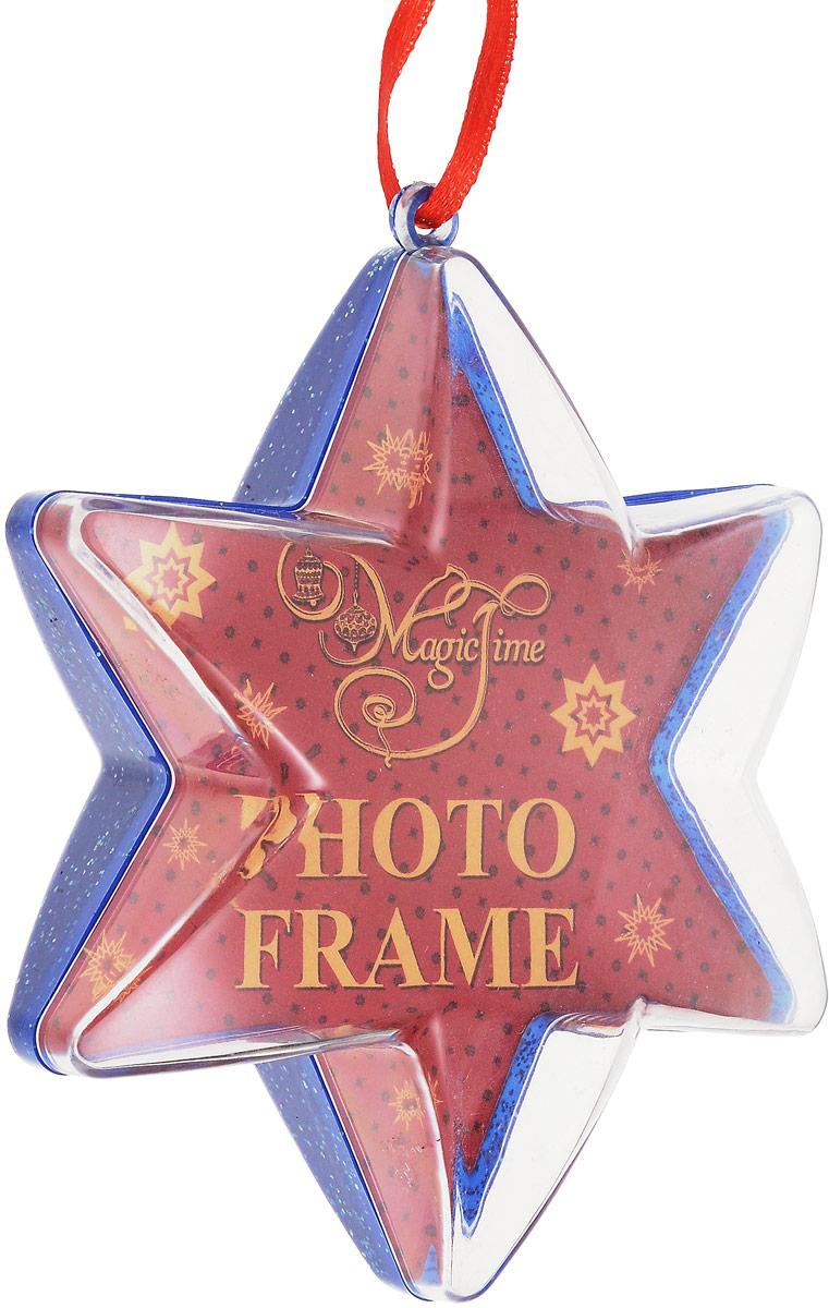 Украшение новогоднее подвесное Magic Time Синее сияние. 42315 новогоднее подвесное украшение собака ф21 1716