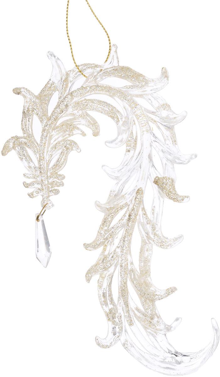 Украшение новогоднее подвесное Magic Time Восточные драконы, цвет: прозрачный, золотой, длина 16,5 см42055Новогоднее подвесноеукрашение Magic Time Восточные драконы отлично подойдет для декорации новогодней ели. Игрушка изготовлена из полистирола и оформлена блестками.Создайте в своем доме атмосферу веселья и радости, украшая всей семьей новогоднюю елку нарядными игрушками, которые будут из года в год накапливать теплоту воспоминаний.Размеры украшения: 16,5 х 3,5 х 2 см.