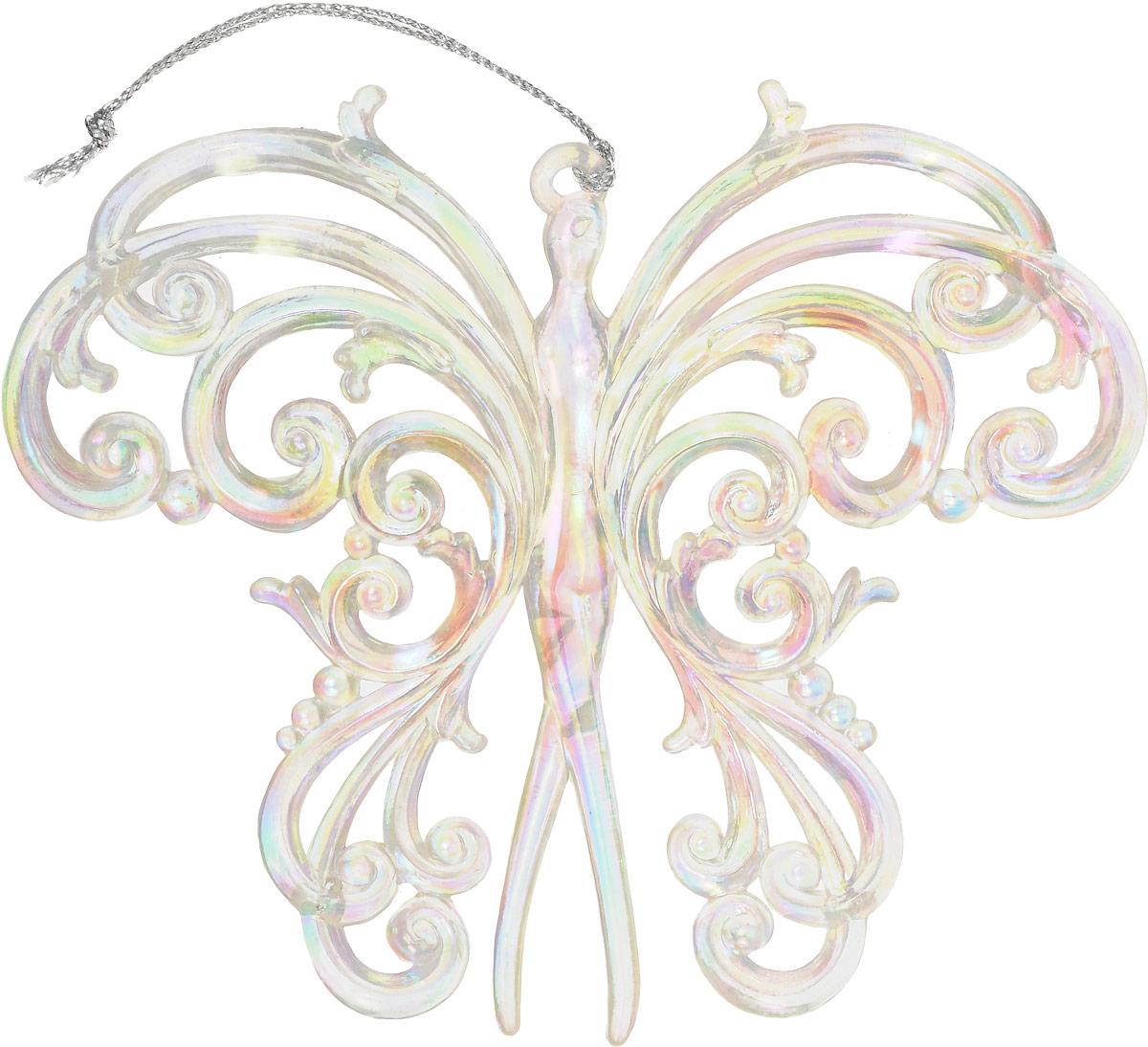 Украшение новогоднее подвесное Magic Time Кружевная бабочка, длина 10,8 см. 7597275972Новогоднее подвесноеукрашение Magic Time Кружевная бабочка отлично подойдет для декорации новогодней ели. Игрушка изготовлена из полистирола.Создайте в своем доме атмосферу веселья и радости, украшая всей семьей новогоднюю елку нарядными игрушками, которые будут из года в год накапливать теплоту воспоминаний.Размеры украшения: 10,8 х 4 х 1 см.