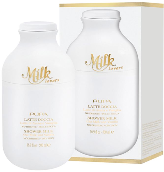 Pupa Гель для душа Milk Lovers, Овсяное молочко и ваниль, 500 мл0B2A01B001Обволакивает кожу как бы нежной, легкой замшей. Очищает кожу настолько бережно, насколько это возможно. Белый цвет, жидкая текстура как у молока. Нежная, гладкая кожа после душа. Формулы серии Milk Lovers разрабатывались с акцентом на отбираемые ингредиенты, преимущественно на природные компоненты. Без парабенов. Без силиконов. Без вазелина. Без алкоголя. Без красителей.