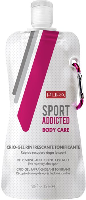 Pupa Криогель для тела Sport Addicted Refreshing&Toning Cryo-Gel, 150 мл кора криогель дренаж для тела 200 мл