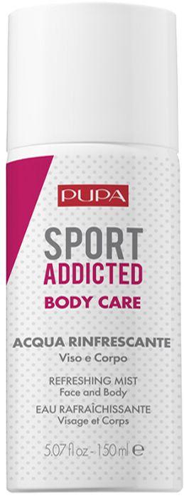 Pupa Освежающая вода для лица и тела Sport Addicted Refreshing Mist, 150 мл2B2E04A001Обогащена водным мятным экстрактом и микроэлементами для мягкого увлажнения кожи и придания свежести.