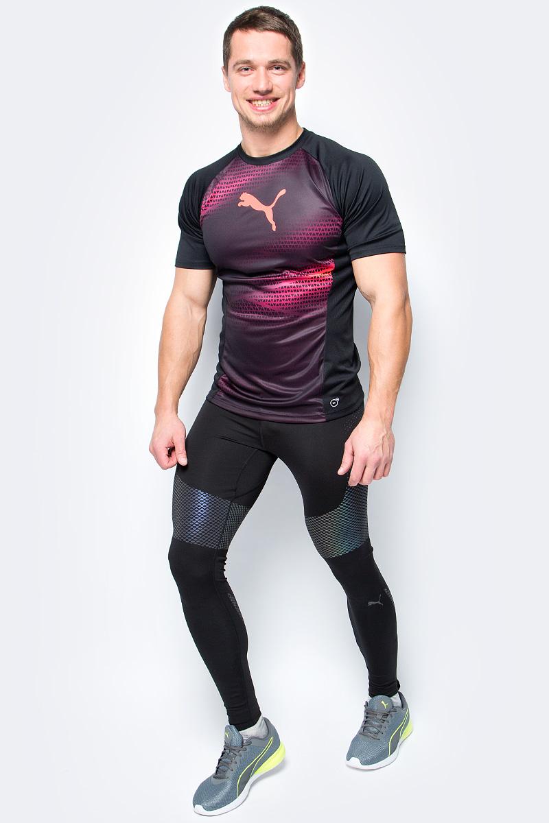 Тайтсы мужские Puma PWRRUN NC Long Tight, цвет: черный. 51557001. Размер L (48/50)51557001Изделие изготовлено с использованием высокофункциональной технологии DryCell, которая отводит влагу, поддерживает тело сухим и гарантирует комфорт во время активных тренировок и занятий спортом. Суперсовременная ткань изделия не только имеет яркий переливающийся рисунок из светоотражающего материала, благодаря которому вас видно в темноте со всех сторон, но и активно поддерживает мышцы, препятствуя перенапряжению и растяжениям. Плоские швы не натирают кожу. Особая обработка пояса и низа изделия обеспечивает полную свободу движений. Карман на молнии сзади с полной водонепроницаемой подкладкой обеспечит надежное хранение ваших вещей. Пояс снабжен кулиской с затягивающимся шнуром для лучшей подгонки по фигуре.