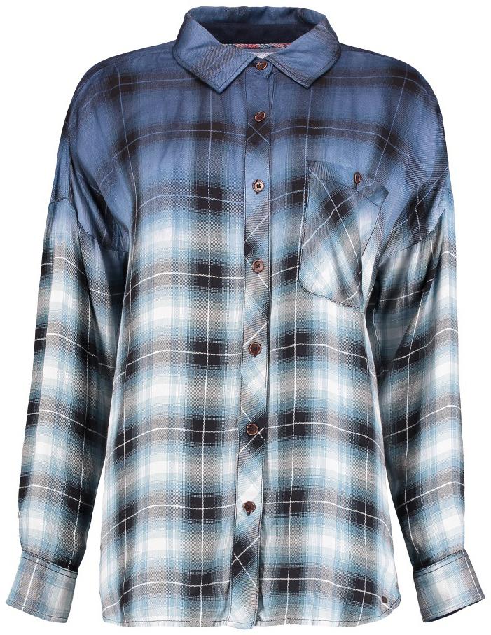 Рубашка женская ONeill Lw Monardella Shirt, цвет: синий. 7P6302-5910. Размер L (48/50)7P6302-5910Женская рубашка ONeill Lw Monardella Shirt, изготовленная из высококачественного материала, прекрасно подойдет для повседневной носки. Изделие очень мягкое и приятное на ощупь, не сковывает движения и хорошо пропускает воздух. Рубашка с отложным воротником и длинными рукавами застегивается на пуговицы по всей длине. На груди расположен накладной карман на пуговице.