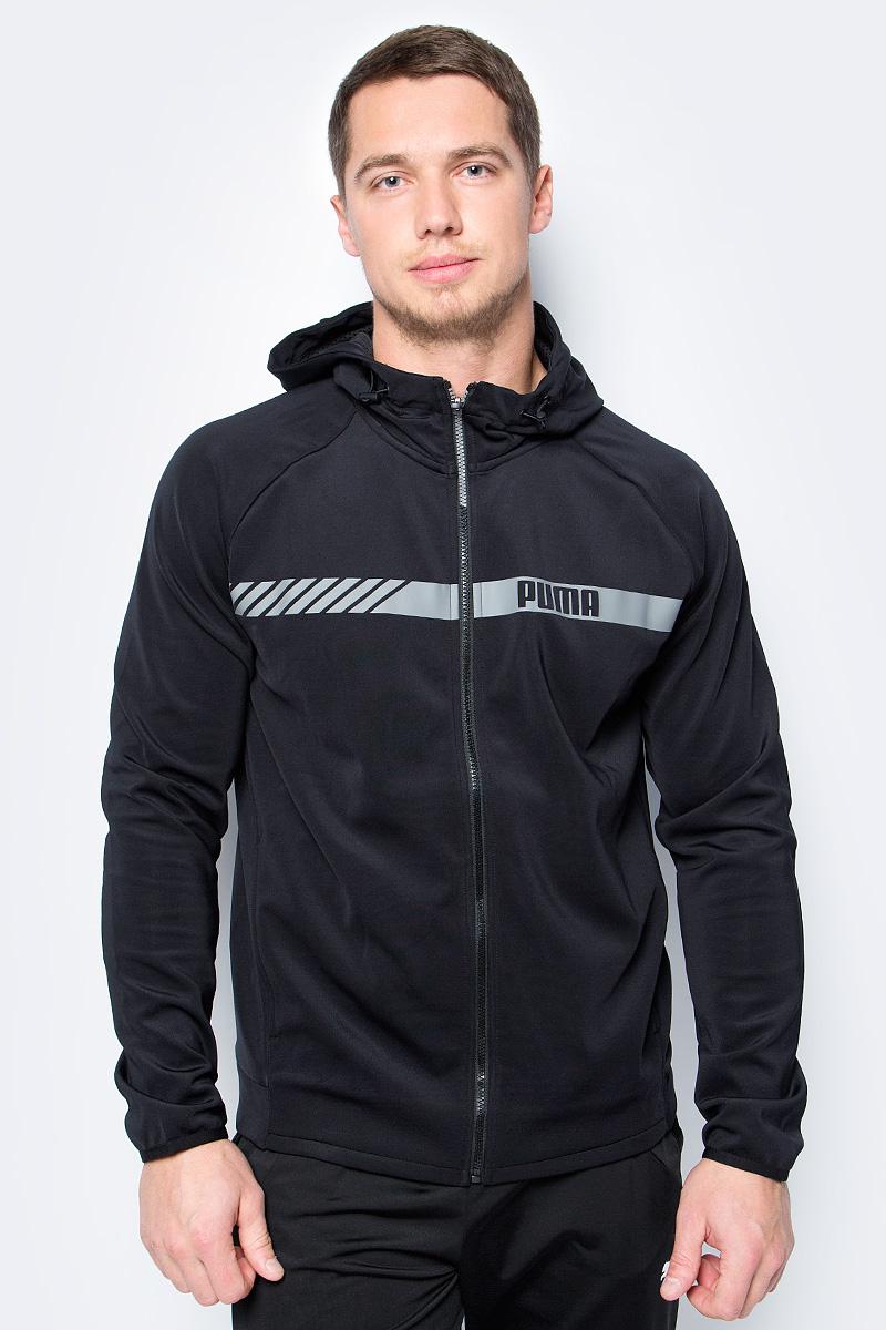 купить Толстовка мужская Puma Active Tec Stretch FZ Hoody, цвет: черный. 59253401. Размер L (48/50) по цене 2245 рублей