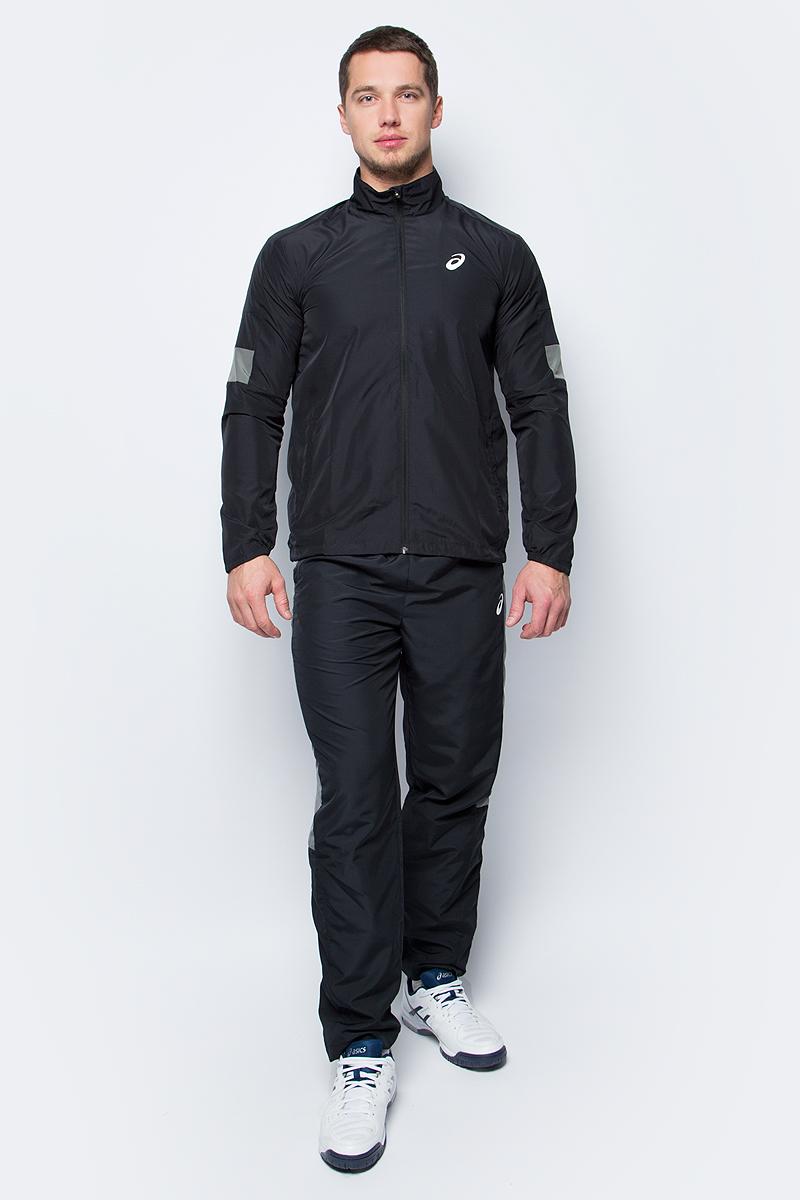 Костюм спортивный мужской Asics Suit Indoor, цвет: черный. 142894-0904. Размер S (46)142894-0904В костюме Asics Suit Indoor вы будете выглядеть стильно, а чувствовать себя невероятно комфортно. Материал гарантирует легкость движений, как при занятиях спортом, так и в повседневной носке. Ветровка с длинными рукавами застегивается спереди на молнию. Модель дополнена двумя прорезными карманами спереди. Спортивные брюки имеет широкую эластичную резинку на поясе.