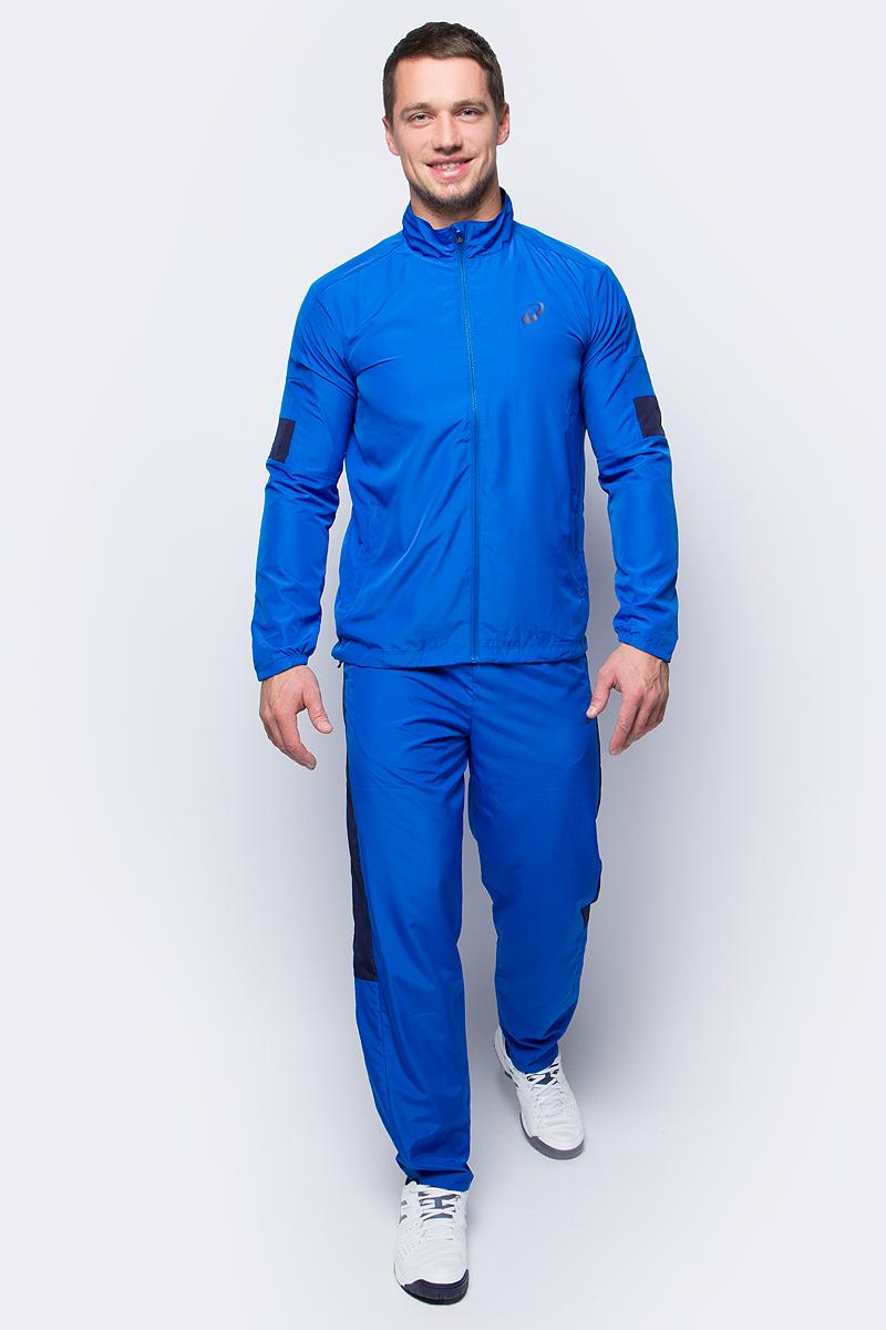 Костюм спортивный мужской Asics Suit Indoor, цвет: голубой. 142894-0861. Размер L (50/52)142894-0861В костюме Asics Suit Indoor вы будете выглядеть стильно, а чувствовать себя невероятно комфортно. Материал гарантирует легкость движений, как при занятиях спортом, так и в повседневной носке. Ветровка с длинными рукавами застегивается спереди на молнию. Модель дополнена двумя прорезными карманами спереди. Спортивные брюки имеет широкую эластичную резинку на поясе.