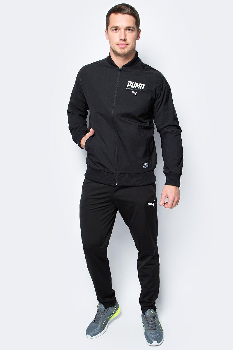 Куртка-бомбер мужская Puma Style Tec Stretch Bomber, цвет: черный. 59059901. Размер XXL (52/54)
