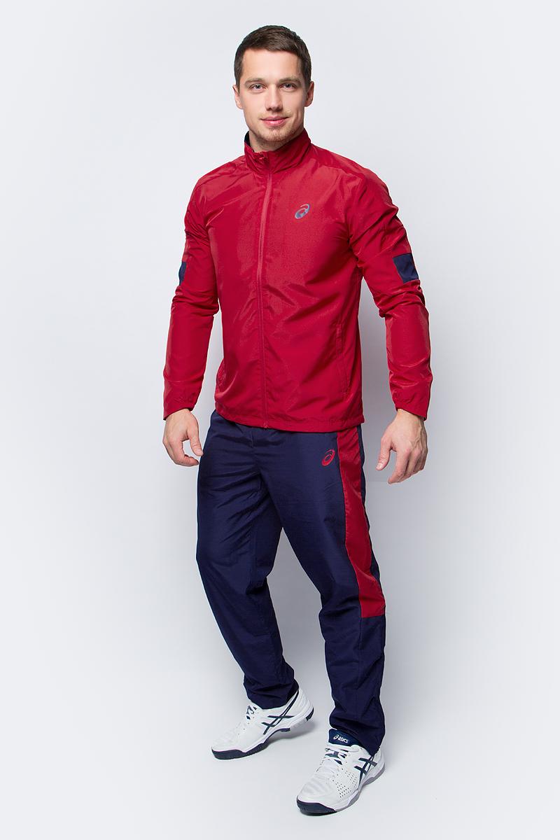 Костюм спортивный мужской Asics Suit Indoor, цвет: красный. 142894-0672. Размер L (50/52)142894-0672В костюме Asics Suit Indoor вы будете выглядеть стильно, а чувствовать себя невероятно комфортно. Материал гарантирует легкость движений, как при занятиях спортом, так и в повседневной носке. Ветровка с длинными рукавами застегивается спереди на молнию. Модель дополнена двумя прорезными карманами спереди. Спортивные брюки имеет широкую эластичную резинку на поясе и два боковых кармана. Светоотражающий логотип Asics на груди обеспечивает повышение уровня видимости в темное время суток.