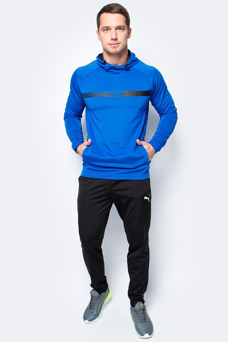 Толстовка мужская Puma Active Tec Stretch Hoody, цвет: голубой. 59253308. Размер XXL (52/54) толстовка женская puma urban sports fz hoody цвет темно зеленый 59404414 размер m 44 46