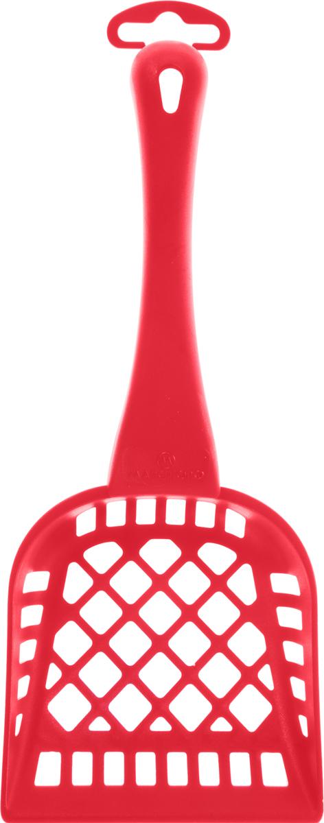 Совочек для кошачьего туалета Marchioro Pala, цвет: красный, длина 26 см1065301200099_красныйСовочек для кошачьего туалета Marchioro Pala изготовлен из цветного пластика и оснащен геометрическими отверстиями. Идеален для перемешивания и просеивания наполнителя. На ручке имеется петелька для подвешивания на стену.Размер рабочей поверхности: 10,5 х 11 см. Общая длина совочка: 26 см.