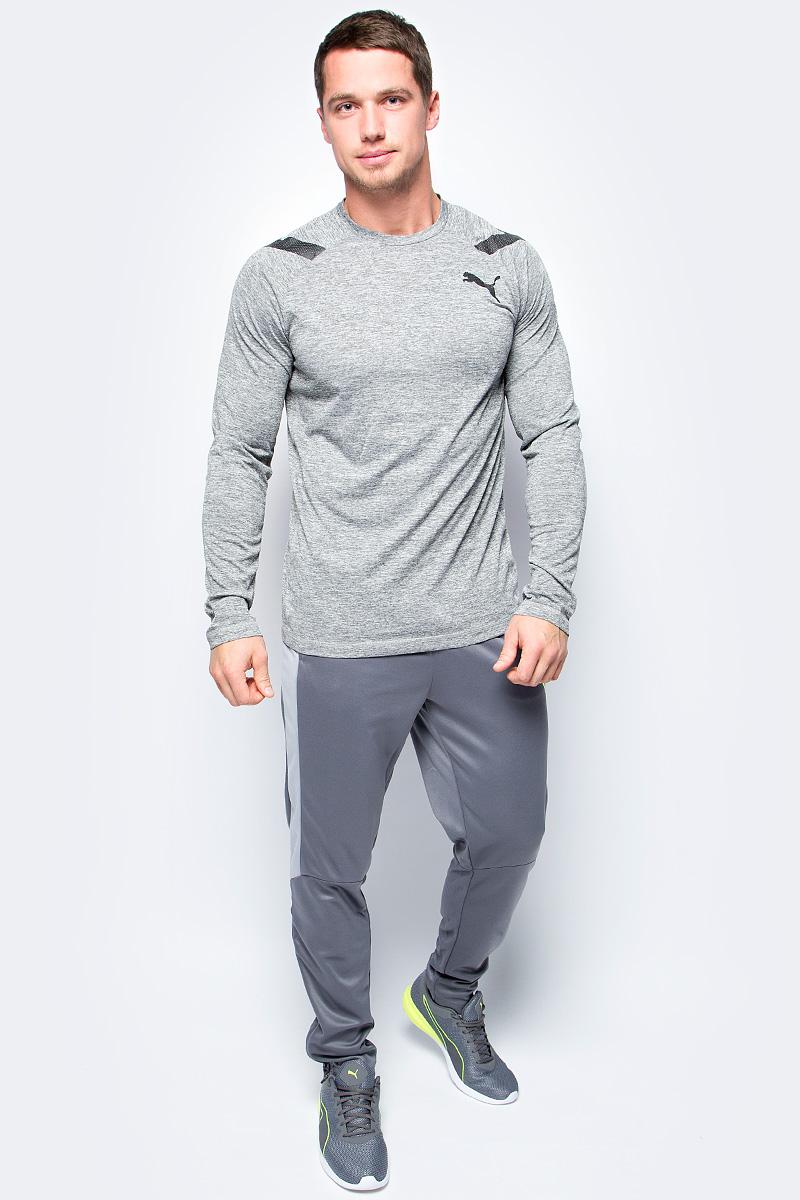 Лонгслив мужской Puma Bonded Tech LS Tee, цвет: серый. 51563901. Размер XXL (52/54) футболка puma футболка bonded tech ss tee