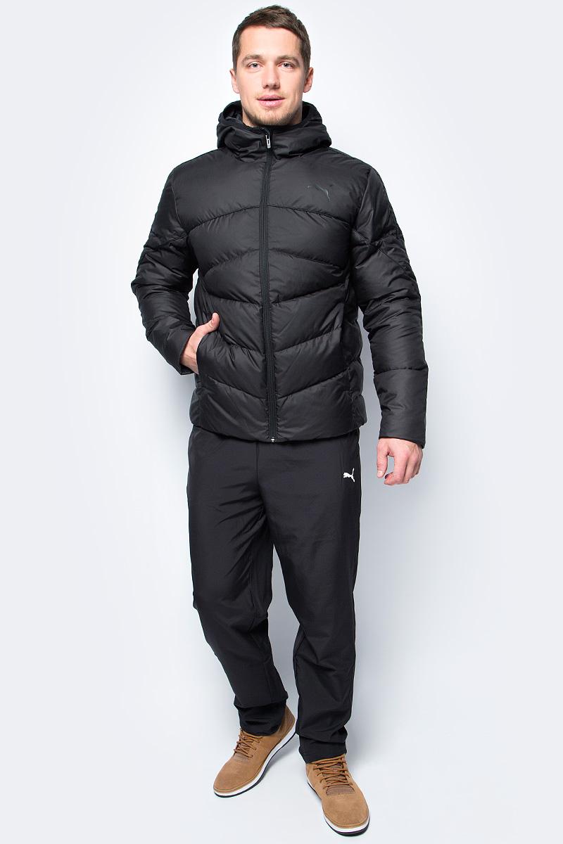 Пуховик мужской Puma ESS 400 Down HD Jacket, цвет: черный. 59236101. Размер M (46/48)59236101Этот пуховик от Puma является идеальным компаньоном во время холодных зимних месяцев, когда особенно необходимо находиться в тепле. Четкие линии придают изделию эффектный внешний вид, ведь выглядеть привлекательно хочется не только в летний период времени. Легкость и функциональность делают эту куртку верным помощником, который никогда не подведет.Система Storm Flap с защитой подбородка. Эластичная вязка на капюшоне. Боковые карманы на молнии с односторонней флисовой подкладкой. Направленные боковые швы для свободы передвижения. Флисовый утеплитель для обеспечения оптимального тепла. Внутренний мультимедийный карман с клапаном. Классическая посадка.