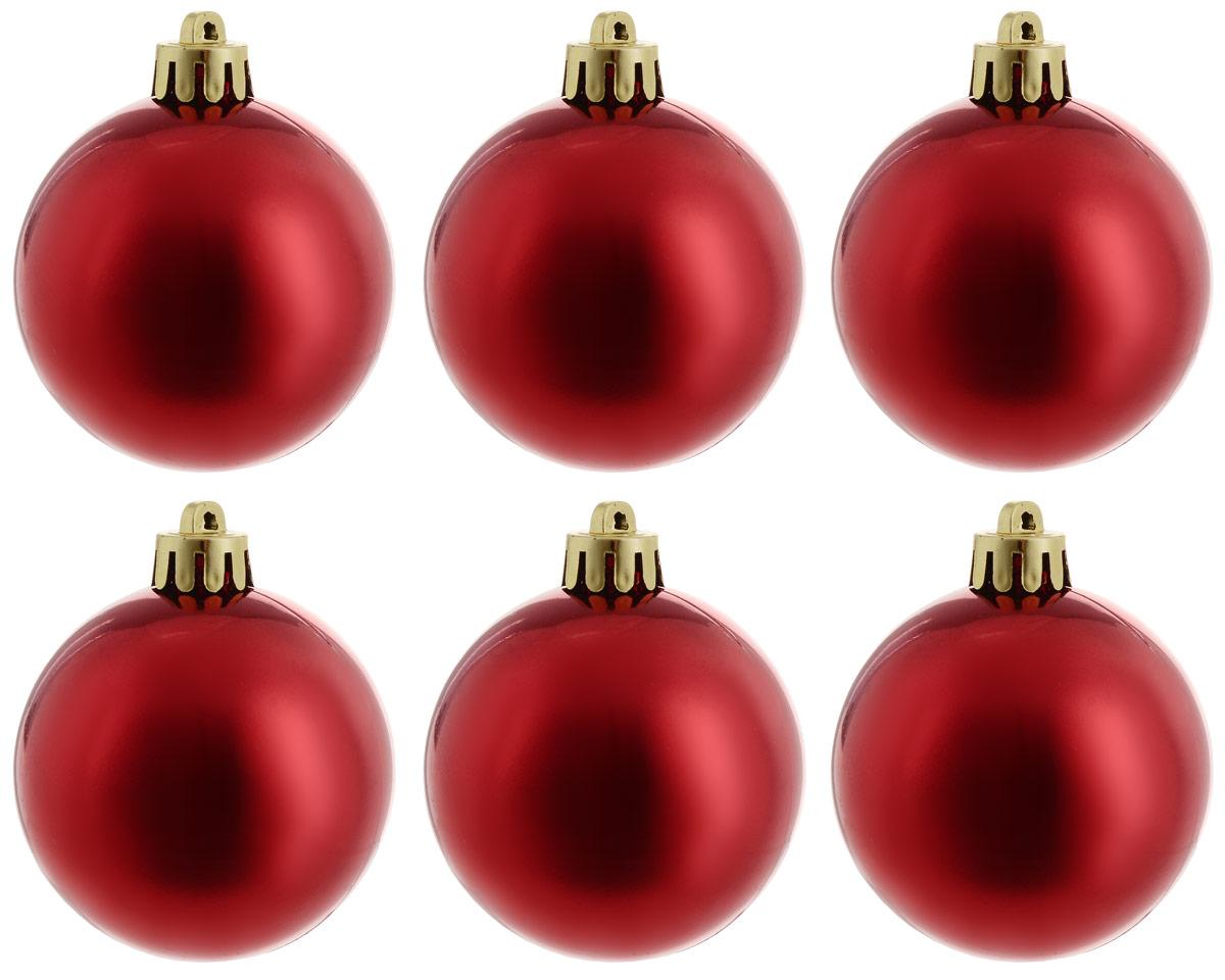 Украшение новогоднее подвесное Magic Time Шар. Глянец красный, 6 шт76063Новогоднее подвесное украшение Magic Time Шар. Глянец синий отлично подойдет для декорации новогодней ели. В комплект входят шесть шаров, изготовленных из полистирола. Создайте в своем доме атмосферу веселья и радости, украшая всей семьей новогоднюю елку нарядными игрушками, которые будут из года в год накапливать теплоту воспоминаний. Диаметр шара: 5 см