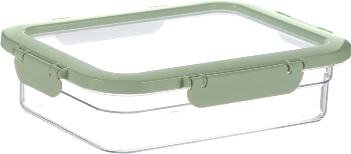 Контейнер для продуктов Herevin, цвет: прозрачный, светло-зеленый, 1,3 л. 161421-500161421-500_светло-зеленыйКонтейнер для продуктов Herevin изготовлен из качественного пищевого пластика. Крышка с защелками плотно и герметично закрывается, поэтому продукты дольше остаются свежими. Прозрачные стенки позволяют видеть содержимое. Такой контейнер подойдет для использования дома, его можно взять с собой на работу, учебу, в поездку.Размер контейнера (без учета крышки): 21,5 х 16,2 х 5 см.