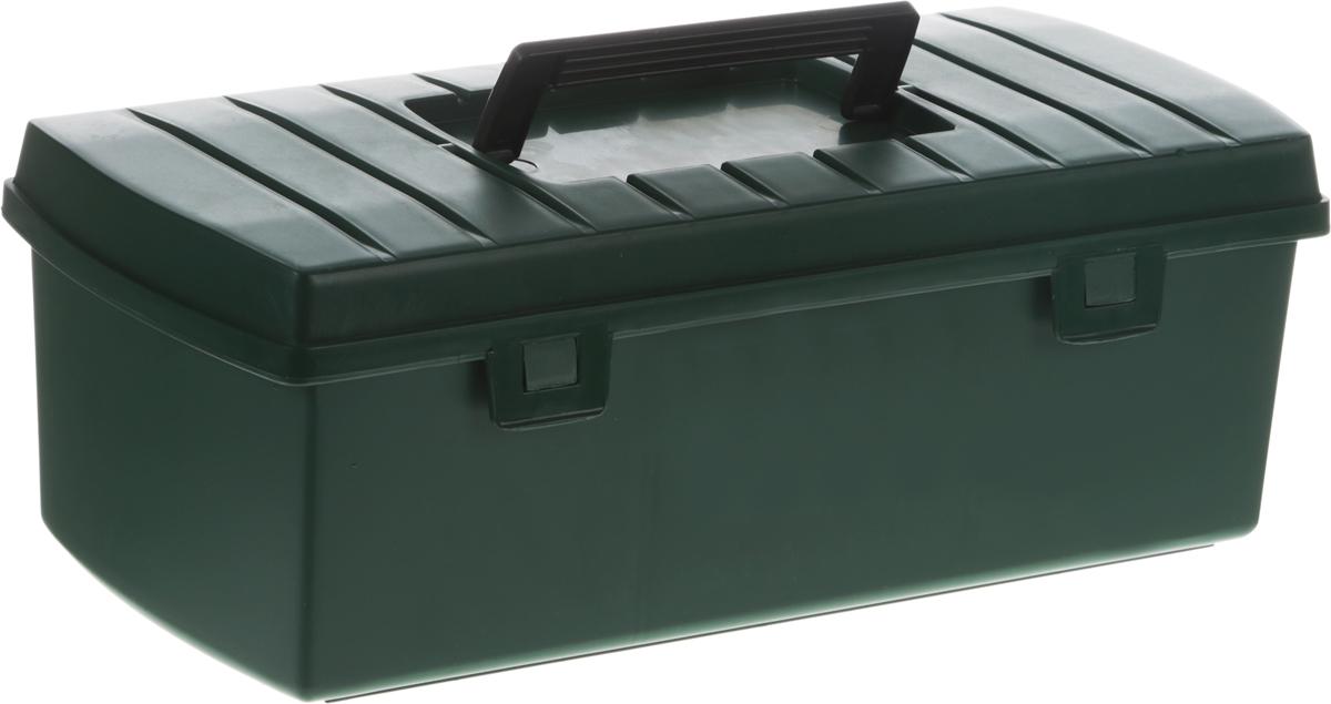 Ящик для инструментов FIT, цвет: зеленый, 35 х 16,5 х 12,5 см65498_зеленыйЯщик FIT выполнен из прочного пластика и предназначен для хранения и переноски инструмента. Изделие имеет одно главное отделение, которое можно регулировать с помощью 2 специальных съемных перегородок. Усиленная рукоятка обеспечивает надежную транспортировку инструментов.