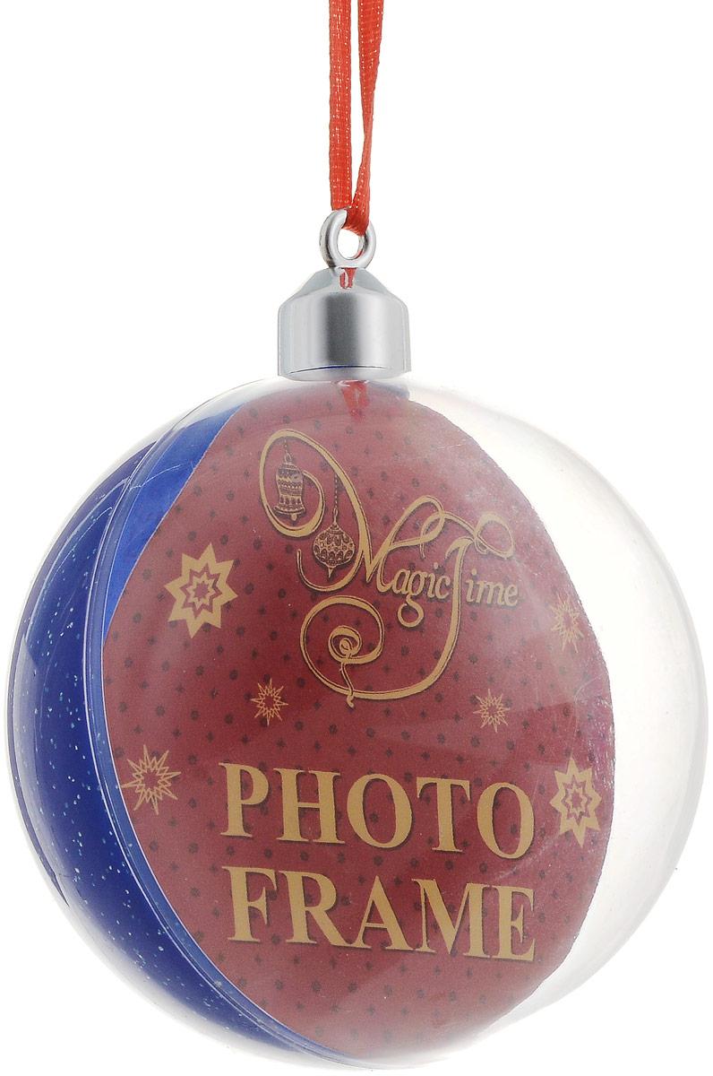Украшение новогоднее подвесное Magic Time Синее мерцание, диаметр 8 см. 4231142311Новогоднее подвесное украшение Magic Time Синее сияние отлично подойдет для декорации новогодней ели. Игрушка, изготовленная из поливинилхлорида, выполнена в виде шара.Создайте в своем доме атмосферу веселья и радости, украшая всей семьей новогоднюю елку нарядными игрушками, которые будут из года в год накапливать теплоту воспоминаний.Размеры украшения: 8 х 8 х 8 см