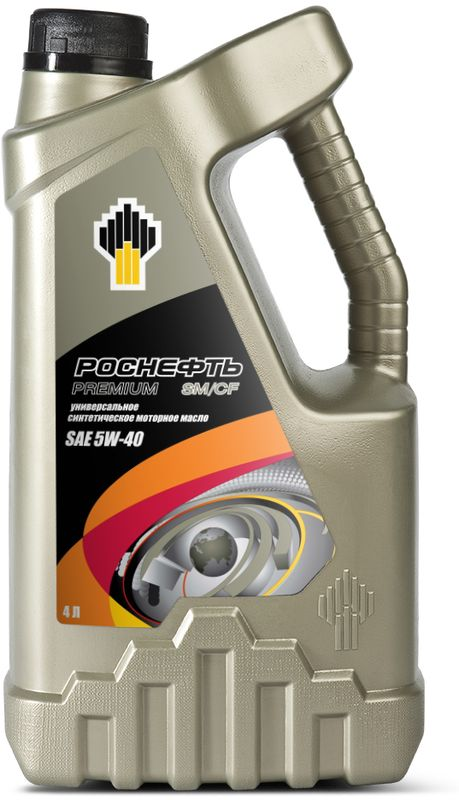 Масло моторное Роснефть Premium, синтетическое, класс вязкости 5W-40, 4 л4379Всесезонное полностью синтетическое моторное масло эксплуатационного уровня API SM/CF. Производится на основе высококачественных синтетических базовых масел и пакета присадок последнего поколения и обладает исключительно высокими эксплуатационными свойствами. Превосходные вязкостно-температурные свойства масла Роснефть Premium 5W-40 обеспечивают легкий запуск двигателя при температурах до -30 °С.