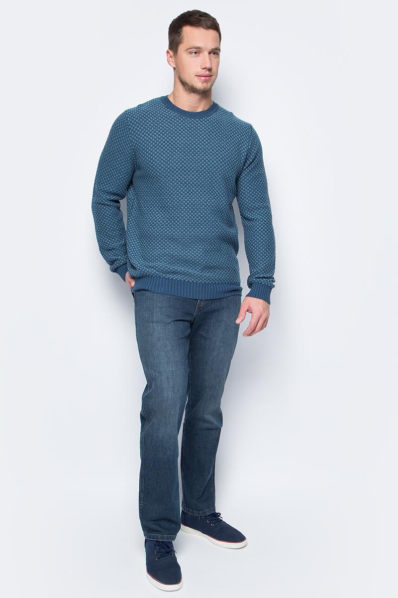 Джемпер мужской Sela, цвет: синий. JR-214/138-7423. Размер M (48)
