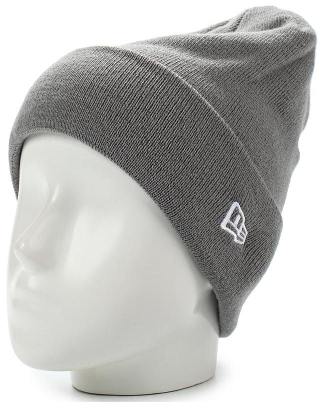 Шапка New Era Ess Cuff Knit, цвет: серый. 11448384-GRA. Размер универсальный11448384-GRAШапка с отворотом New Era выполнена из 100% акрила. Модель оформлена вышивкой с изображением логотипа бренда. Такая шапка подойдет и для мужчин, и для женщин.