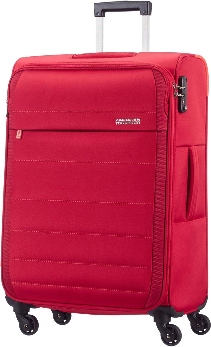 Чемодан American Tourister, цвет: красный, 38 л. 08G-30902 american tourister bon air чемоданы