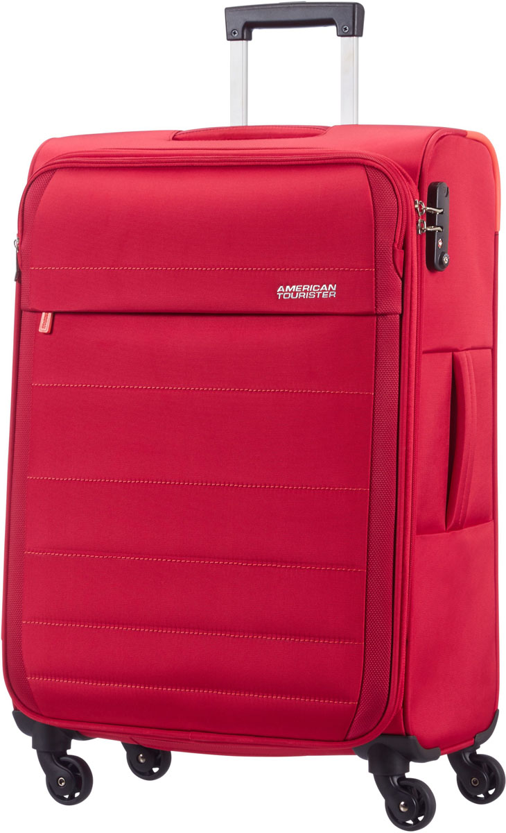 Чемодан American Tourister, цвет: красный, 104 л. 08G-3090408G-30904