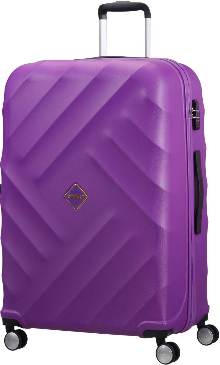 Чемодан American Tourister, цвет: фиолетовый, 91 л. 21G-91003 american tourister bon air чемоданы