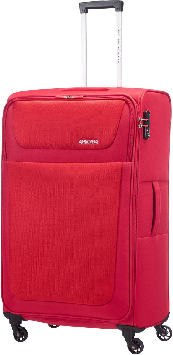 Чемодан  American Tourister , на колесах, цвет: красный, 94 л. 96A-00904 - Чемоданы и аксессуары