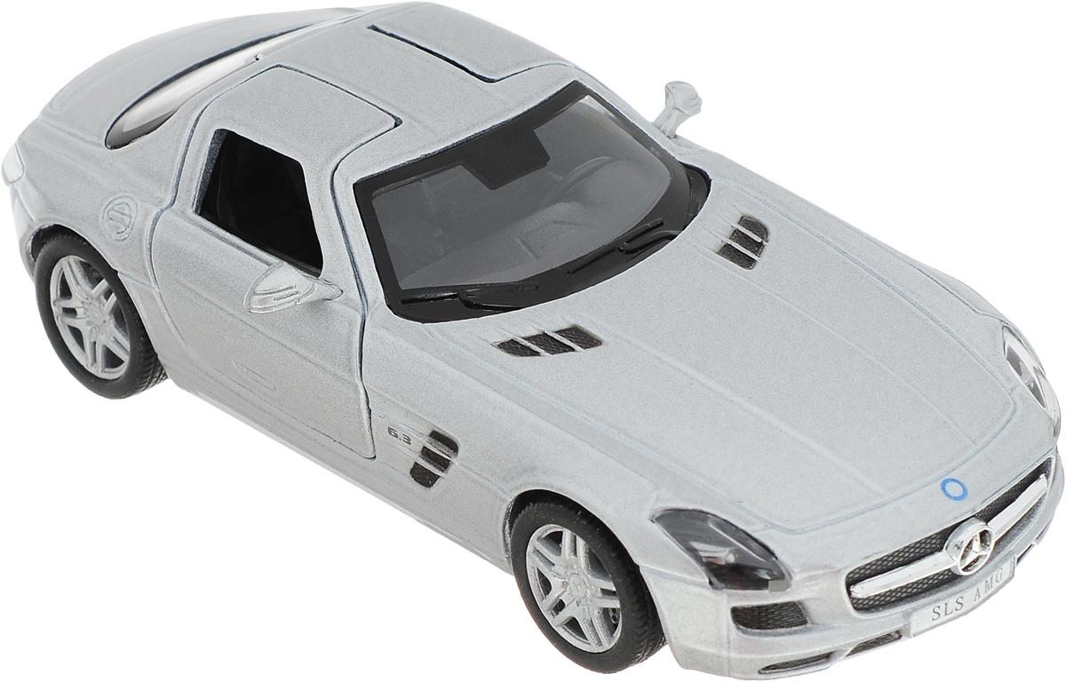 Kinsmart Модель автомобиля Mercedes-Benz SLS AMG цвет серебристый машина pitstop mercedes benz sls amg silver ps 0616307 s