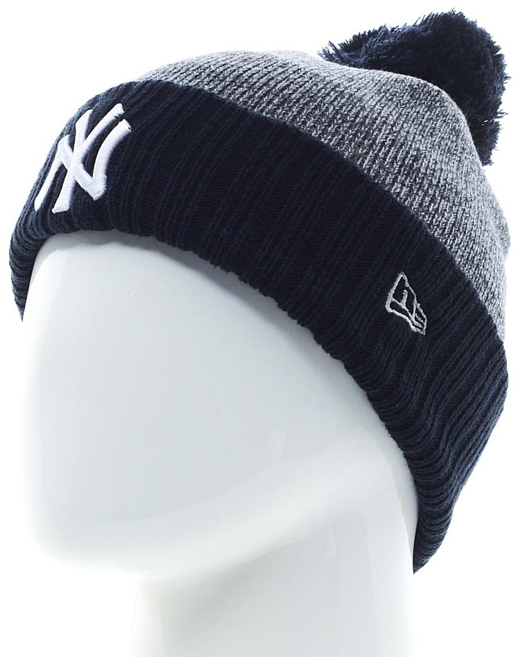 Шапка New Era Mlb Heather Bobble, цвет: синий, серый. 11448329-OTC. Размер универсальный new era шапка для девочек new era
