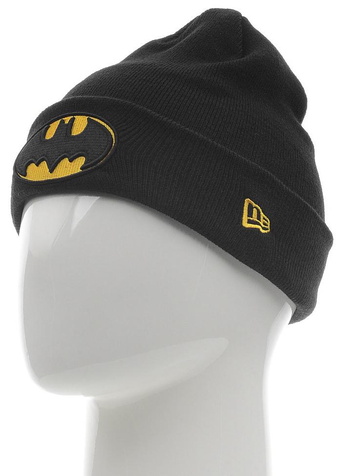 Шапка New Era Batman, цвет: черный. 11448300-BLK. Размер универсальный11448300-BLKВязаная шапка с отворотом New Era выполнена из 100% акрила с вышитым логотипом Бэтмена/Batman. Модель оформлена вышивкой с изображением логотипа бренда. Такая шапка подойдет и для мужчин, и для женщин.