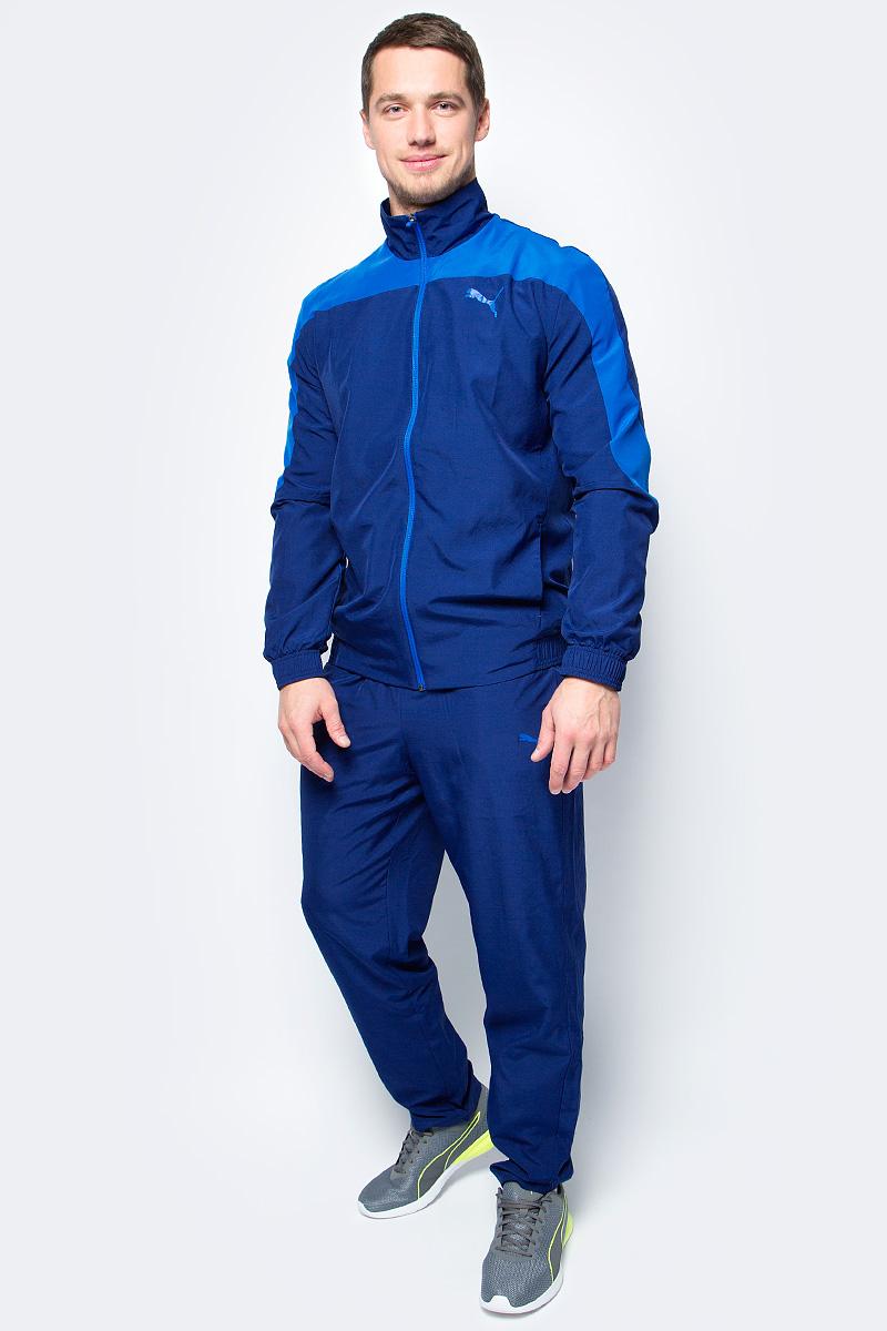 Спортивный костюм мужской Puma Evostripe Woven Suit op, цвет: синий, голубой. 59264461. Размер XXL (52/54) спортивный костюм мужской puma ftbltrg woven tracksuit цвет серый черный 65535003 размер xxl 52 54