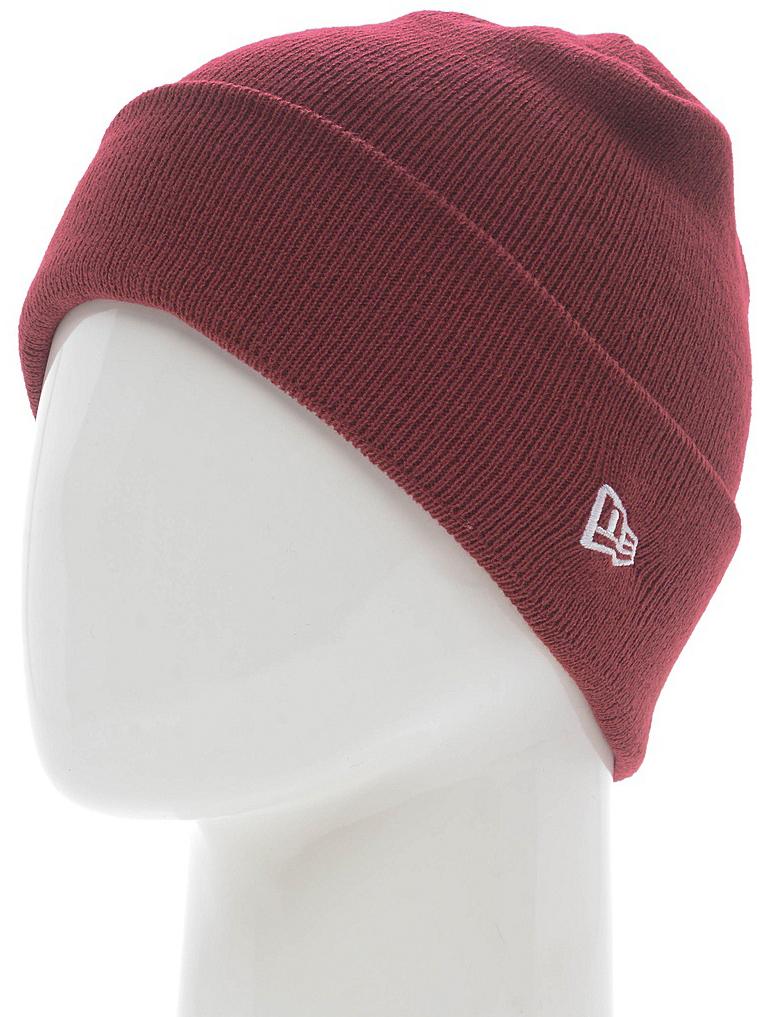 Шапка New Era Ess Cuff Knit, цвет: бордовый. 11277745-CAR. Размер универсальный new era шапка для девочек new era