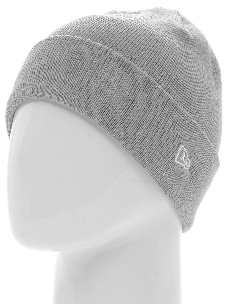 Шапка New Era Ess Cuff Knit, цвет: серый. 11277744-GRA. Размер универсальный11277744-GRAШапка с отворотом с вышитым логотипом New Era. Тянущаяся ткань обеспечивает комфортную посадку.