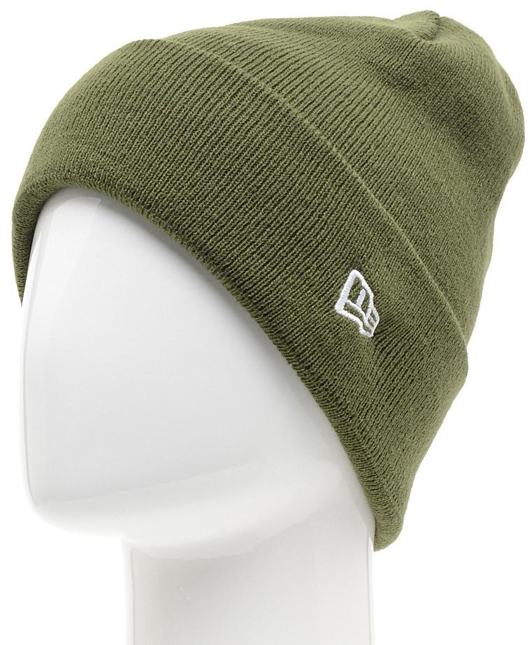 Шапка New Era Ess Cuff Knit, цвет: темно-зеленый. 11277741-RIG. Размер универсальный11277741-RIGШапка с отворотом New Era выполнена из 100% акрила. Модель оформлена вышивкой с изображением логотипа бренда. Такая шапка подойдет и для мужчин, и для женщин.