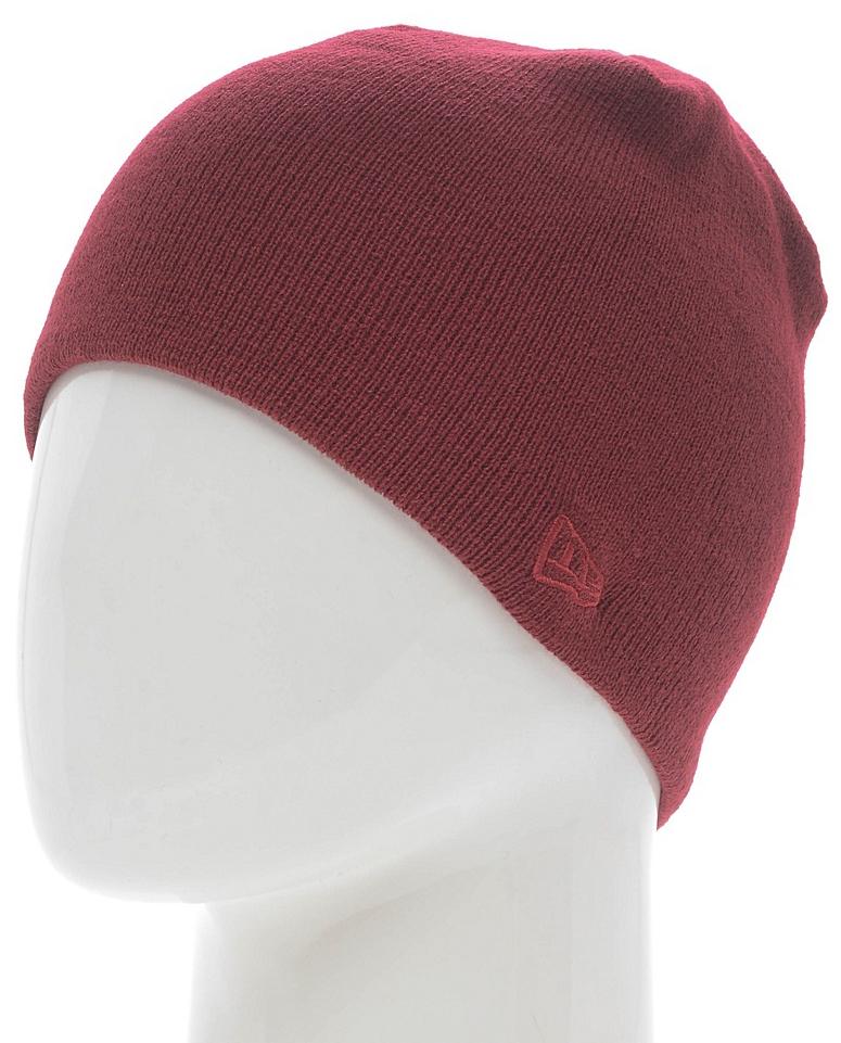 Шапка New Era Skull Knit, цвет: бордовый. 11277627-CAR. Размер универсальный11277627-CARВязаная шапка New Era выполнена из 100% акрила. Модель оформлена вышивкой с изображением логотипа бренда. Такая шапка подойдет и для мужчин, и для женщин.