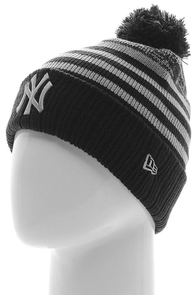 Шапка New Era Seasonal Stripe, цвет: синий. 11277602-NVYGRA. Размер универсальный11277602-NVYGRAШапка с рифлёным отворотом и вышитым логотипом команды MLB New York Yankees. Тянущаяся ткань обеспечивает комфортную посадку.