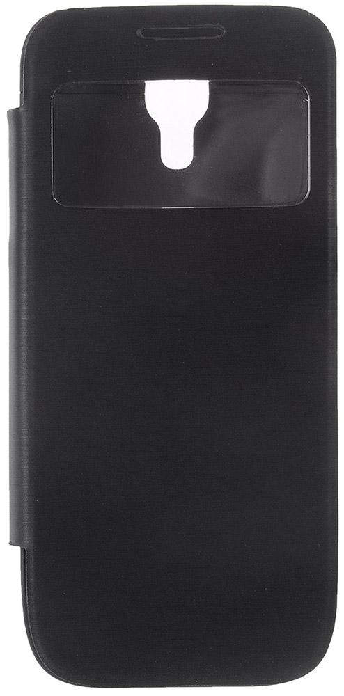 EXEQ HelpinG-SF04 чехол-аккумулятор для Samsung Galaxy S4 mini, Black (2200 мАч, флип-кейс) защитные стекла и пленки interstep is sf 7uhtc0ctr 000b201