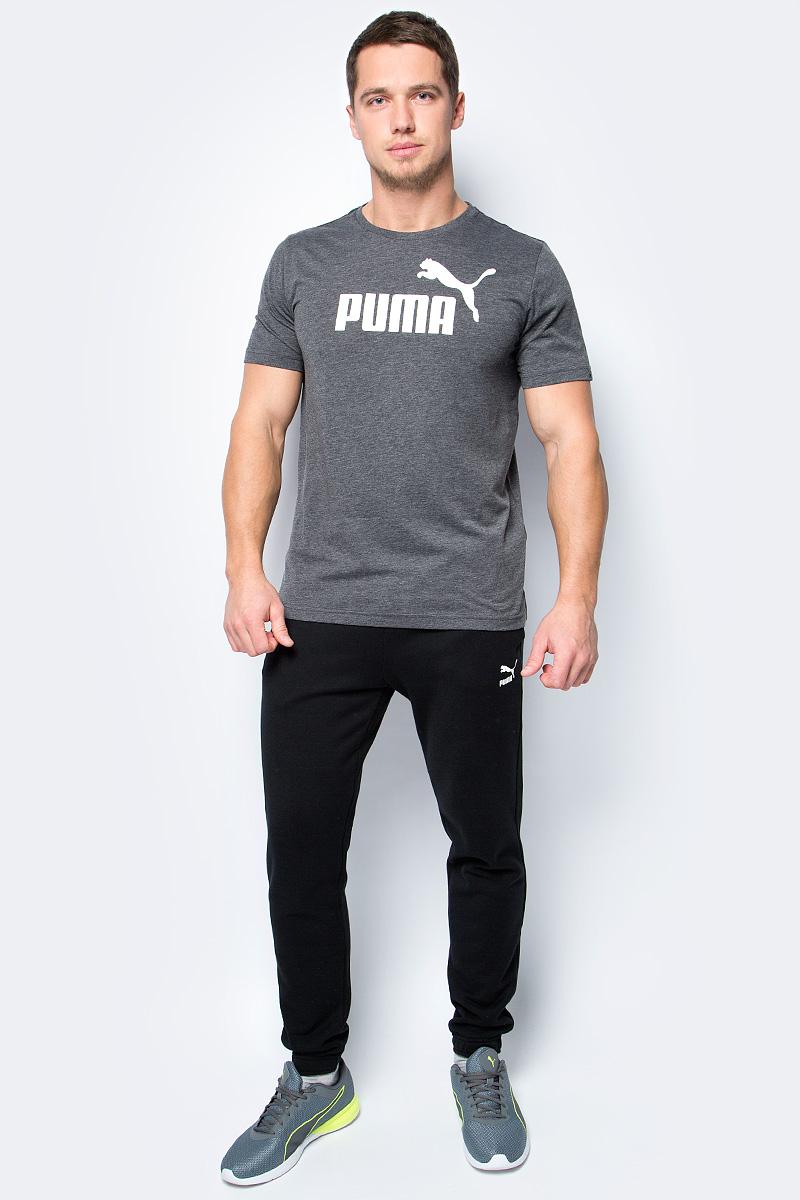 Футболка мужская Puma Ess No.1 Heather Tee, цвет: серый. 83824301. Размер XL (50/52) цена 2017