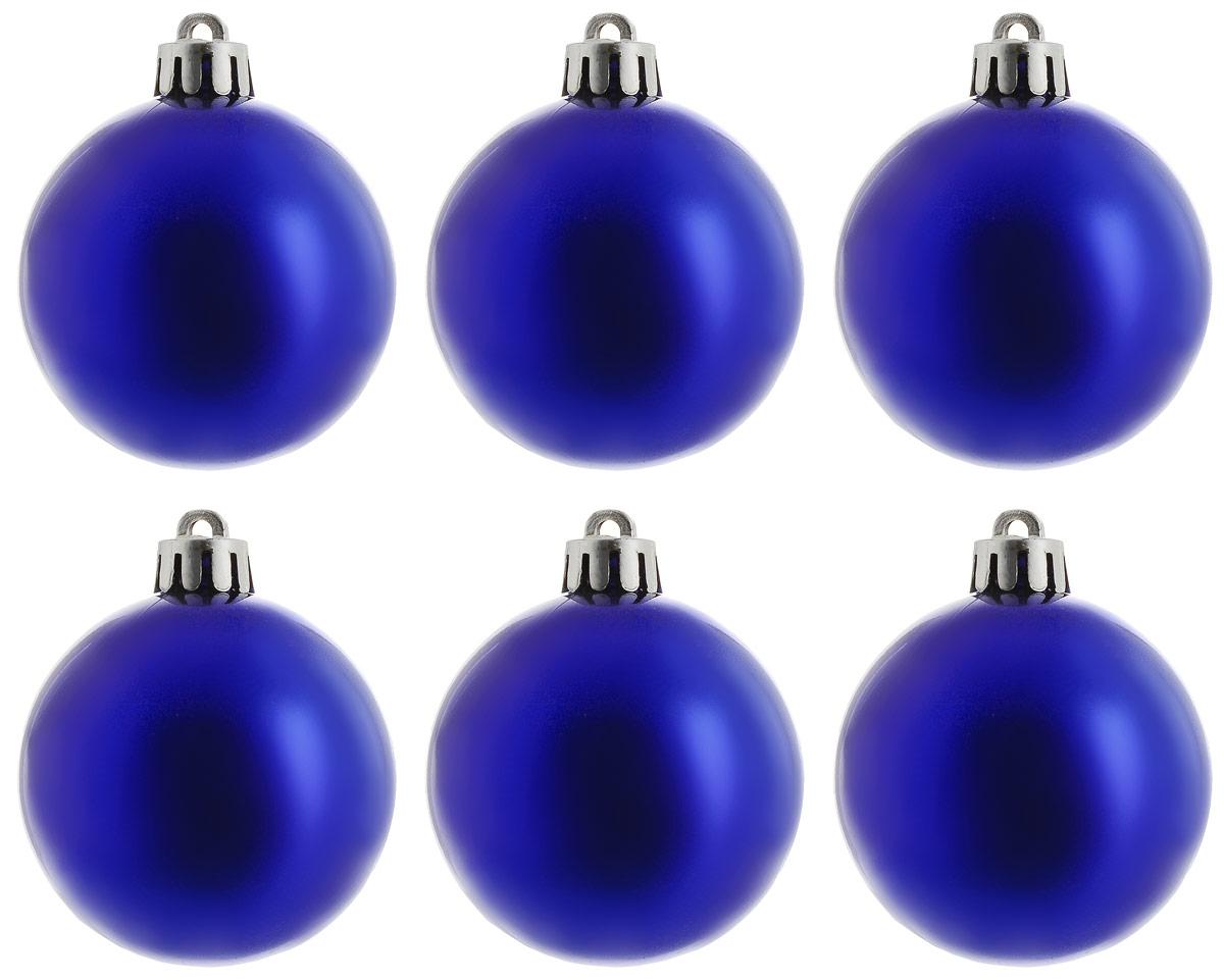 Украшение новогоднее подвесное Magic Time Шар. Глянец синий, 6 шт76064Новогоднее подвесное украшение Magic Time Шар. Глянец синий отлично подойдет для декорации новогодней ели. В комплект входят шесть шаров, изготовленных из полистирола. Создайте в своем доме атмосферу веселья и радости, украшая всей семьей новогоднюю елку нарядными игрушками, которые будут из года в год накапливать теплоту воспоминаний. Диаметр шара: 5 см