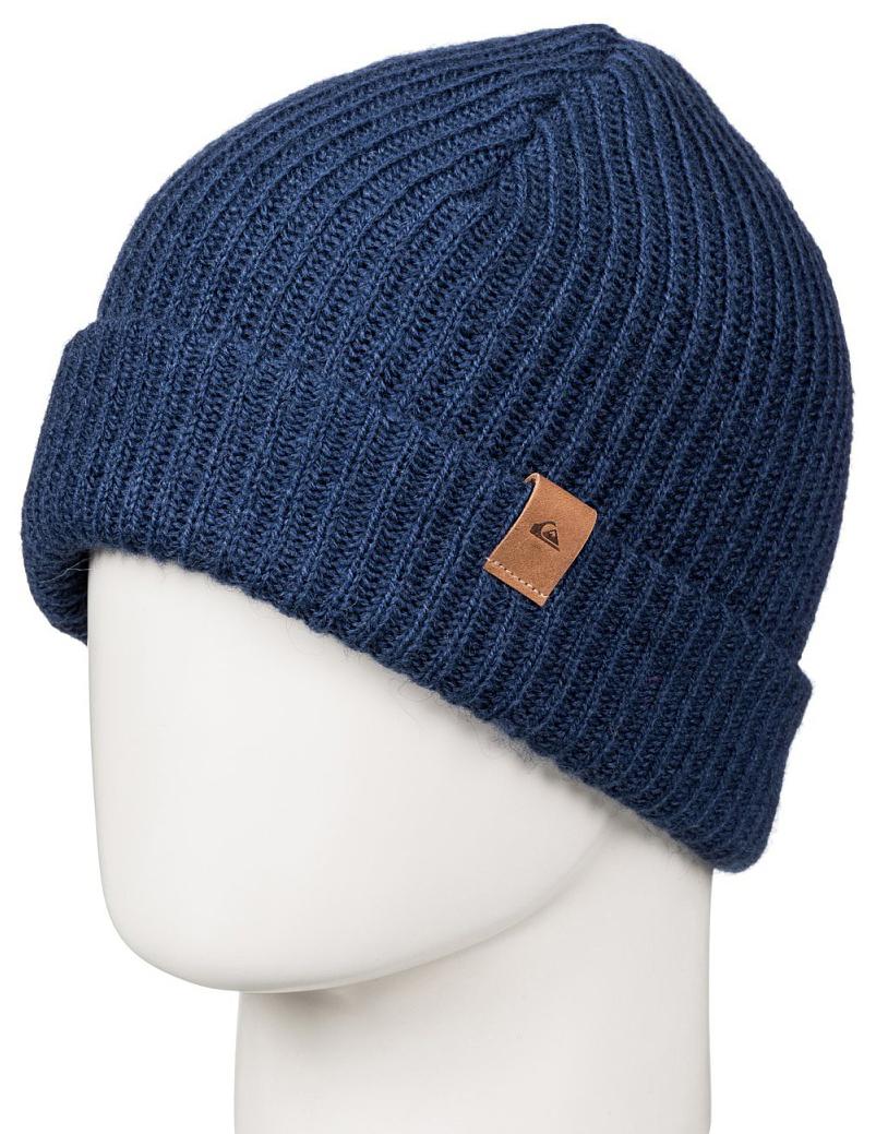 Шапка мужская Quiksilver, цвет: темно-синий. EQYHA03066-BSW0. Размер универсальныйEQYHA03066-BSW0Мужская шапка от Quiksilver выполнена из акриловой пряжи с добавлением шерсти. Модель с отворотом.