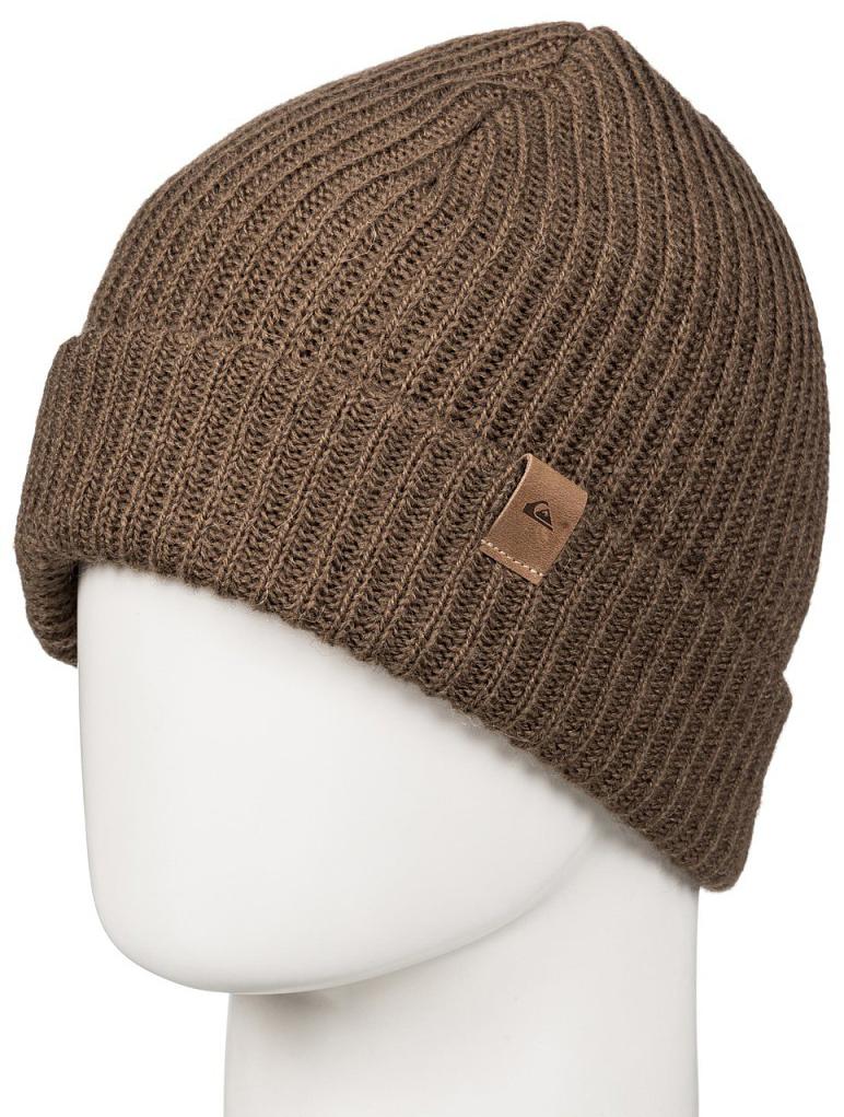 Шапка мужская Quiksilver, цвет: хаки. EQYHA03066-CPV0. Размер универсальныйEQYHA03066-CPV0Мужская шапка от Quiksilver выполнена из акриловой пряжи с добавлением шерсти. Модель с отворотом.