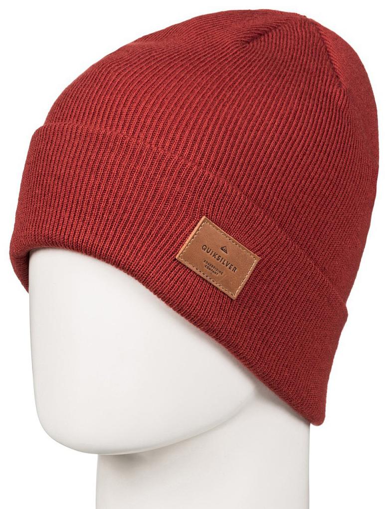 Шапка мужская Quiksilver, цвет: рыжий. EQYHA03082-RQP0. Размер универсальныйEQYHA03082-RQP0Мужская шапка от Quiksilver выполнена из акриловой пряжи. Модель с отворотом оформлена нашивкой Quiksilver из синтетической кожи.